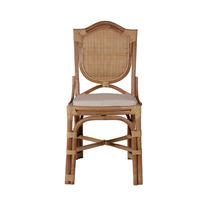 Cadeira De Fibra Natural Com Assento Estofado