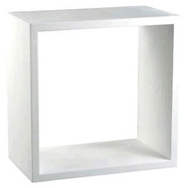 Nicho Decorativo Branco 30x30x30 100% Mdf - Mv010