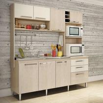 Cozinha Compacta Blume Gralar - Nature E Champagne