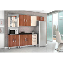 Cozinha Compacta Poliman Suíça Branco/rovele/amendoa 4 Peças