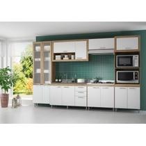 Cozinha Completa 6 Pçs Paneleiro Balcão Armário Multimóveis