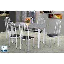 Conjunto Paris Mesa E 6 Cadeiras Marcheli