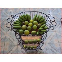 Fruteira De Ferro E Madeira