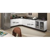 Armário De Cozinha Com 05 Balcão Modulado 100%mdf - Nicioli