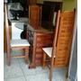 Mesa 4 Cadeira 100% Em Madeira Maciça Jatobá