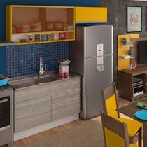 Cozinha Compacta Madesa Carol Branco/ravena/amarelo