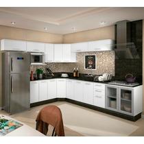 Cozinha Completa Modulada Branco 13 Módulos 100% Mdf