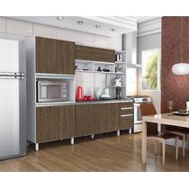 Armário Para Cozinha Completa Compacta Itália Ii 4 Peças