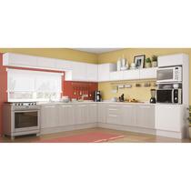Cozinha Completa Unique Carvalle/branco - Kappesberg