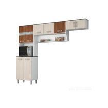 Cozinha Armário Paneleiro Completa 3 Pçs Poliman