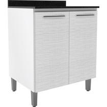 Balcão Kali 80cm 2 Portas Branco/branco 3d Nicioli