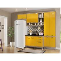 Amários Cozinha Balcão Paneleiro Argila Amarelo Multimóveis