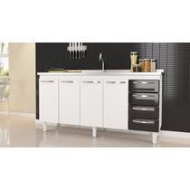 Gabinete De Cozinha Quality P/pia De 1.50m Br/pt - Cozimax
