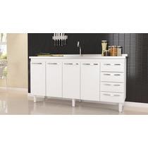 Gabinete De Cozinha Quality P/pia De 1.20m Br/pt - Cozimax