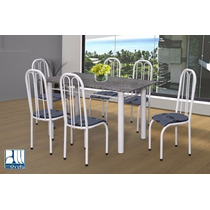 Conjunto Girassol Mesa Com 6 Cadeiras Marcheli