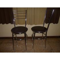 Cadeiras Bar Cozinha Bancadas Com Encosto Aço Cromado