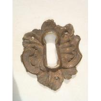 Espelho Antigo P/ Entrada De Chave Em Bronze (37)