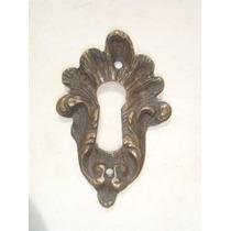 Espelho Antigo P/ Entrada De Chave Em Bronze (34)