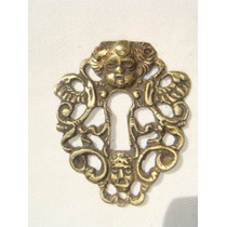 Espelho Antigo P/ Entrada De Chave Em Bronze (44)