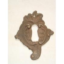 Espelho Antigo P/ Entrada De Chave Em Bronze (30)