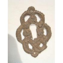 Espelho Antigo P/ Entrada De Chave Em Bronze (28)