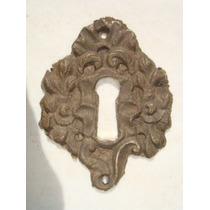 Espelho Antigo P/ Entrada De Chave Em Bronze (33)