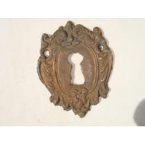 Espelho Antigo P/ Entrada De Chave Em Bronze (23)