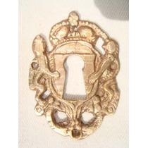 Espelho Antigo P/ Entrada De Chave Em Bronze (80)