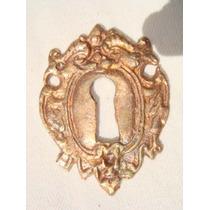 Espelho Antigo P/ Entrada De Chave Em Bronze (55)