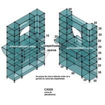 Balcão De Vidro Modulado Caixa Cx020 1.2mts (conec Preto, Pé