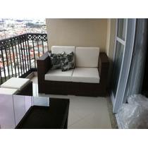 Sofa Atlanta De 1,50mts De Aluminio E Fibra Sintetica