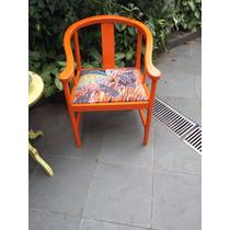 Poltrona Anos 80 Em Madeira Cadeira