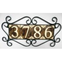 Número Para Residencia Em Cerâmica E Ferro Artesanal