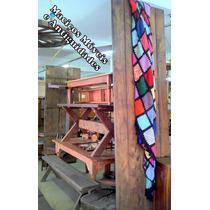 Mesa De Dormente De Trem Maciça ( Mesão ,madeira ,banco )