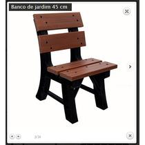 Banco Cadeira - Jardim - Madeira Plastica -
