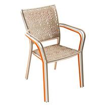 Cadeira Poltrona Jardim Varanda Em Aço Várias Cores