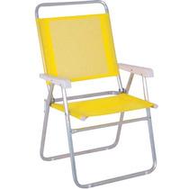 Cadeira Master Plus Alumínio Amarela - Mor