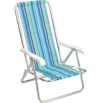 Cadeira De Praia Mor Alumínio 4 Posições 2103