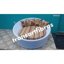 Chaise Concha De Fibra Sintetica Sofa Poltrona Orbit Puff