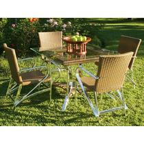 Mesa Com 4 Cadeiras Para Jardim E Varanda