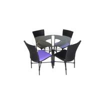 Conjunto De Mesa Com 4 Cadeiras Em Fibra Sintetica