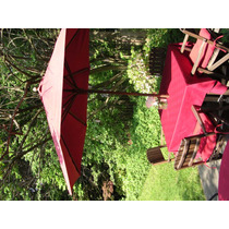 Pottery Barn Mesa De Jardim Com Cadeiras E Porta Guarda-sol