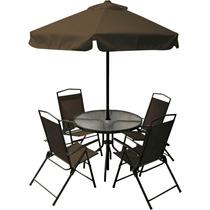 Jogo Jardim 4 Cadeiras Ombrelone Mesa Miami Café Bel 85200