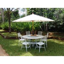 Conjunto Fundido Para Jardim Bambu Giratório - Novo