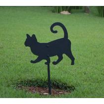 Gato - Silhuetas Decorativas - Enfeites Para Casa E Jardim