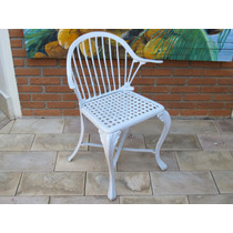 Cadeira Em Alumínio Fundido Jardim Área Externa