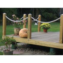 Corda Sisal Para Decoração Deck Jardins 3m 32 Mm