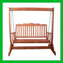 Banco Cadeira Poltrona Balanço De Madeira Maciça 02 Lugares