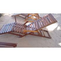 Cadeira De Sol(espreguiçadeira) Em Madeira