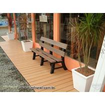 Banco Jardim Em Madeira Plástica 03 Lugares